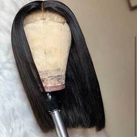 ISEEHAIR 4*4 Lace Closure Wig Bob Cut Straight Lace Wigs
