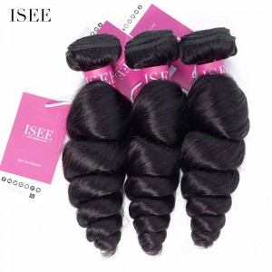 ISEE HAIR Loose Wave Bundles Deal 9A Grade 100% Human Virgin Hair unprocessed