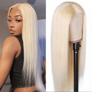 #613 Blonde Straight Lace Closure Wig 100% Human Virgin Hair Colored Wigs | ISEE HAIR