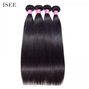 ISEE HAIR 10A Grade 100% Human Virgin Hair unprocessed Straight Hair 4 Bundles Deal