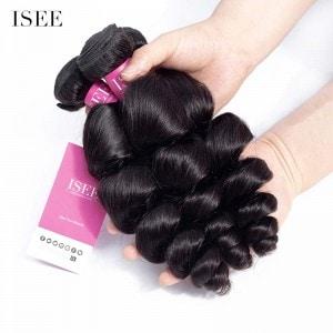 ISEE HAIR 9A Grade 100% Human Virgin Hair unprocessed Malaysian Loose Wave 3 Bundles Deal