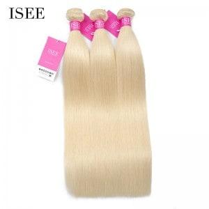 Color 613 Blonde Straight Hair Bundles Deal Double Weft Human Virgin Hair