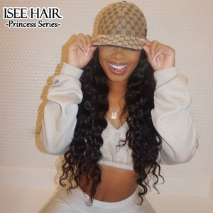 ISEEHAIR Loose Deep Wave Headband Wig Human Hair Glueless Wig For Black Women