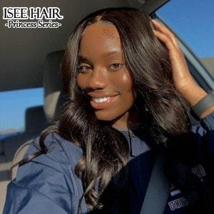 ISEE HAIR Loose Wave Lace Frontal Wigs 100% Human Virgin Hair Wigs