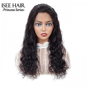 ISEE 150% Density Lace Frontal Wig Natural Wave, 100% Human Virgin Hair Natural Wave