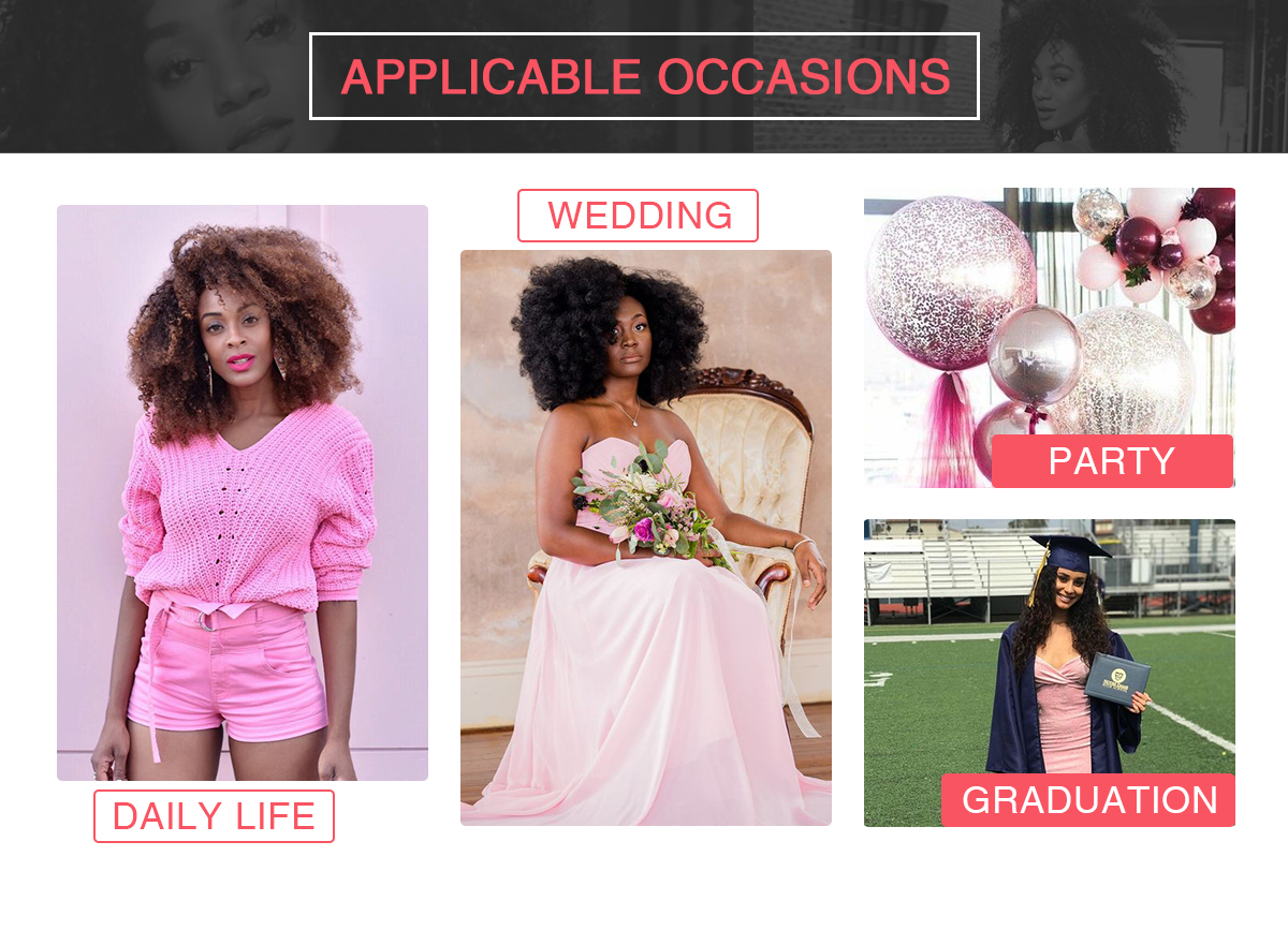 ISEE HAIR applicable occasions such as daily life, wedding , part, etc.